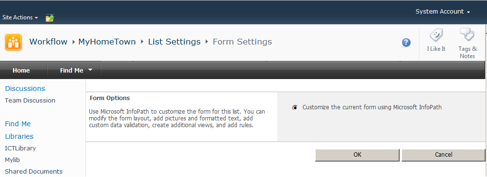 customize the current form
